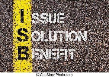 ビジネス, 頭字語, 解決, 利益, isb, 問題