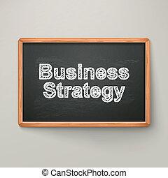 ビジネス, 黒板, 木製である, 作戦, フレーム