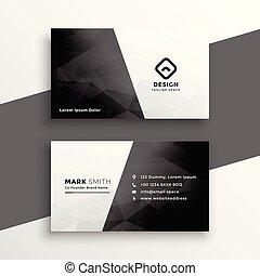 ビジネス, 黒, 流行, デザイン, 白, カード
