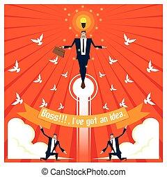ビジネス, 2, シリーズ, チーム, 考え, 概念
