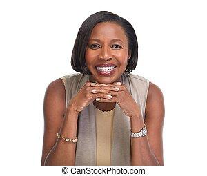 ビジネス, african-american, woman.
