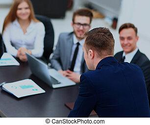 ビジネス, businesspeople, ミーティング, conference., ∥あるいは∥, セミナー