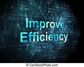 ビジネス, concept:, 改良しなさい, 効率, 上に, デジタルバックグラウンド