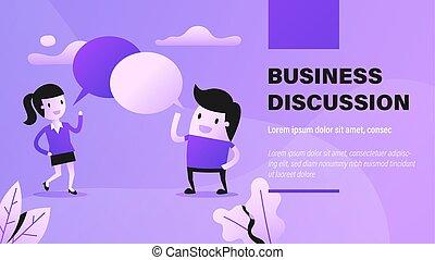 ビジネス, discussion.