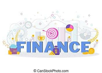 ビジネス, finance., 財政, concept., 活版印刷, metaphor.
