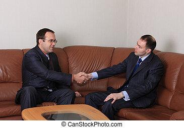 ビジネス, handshake.