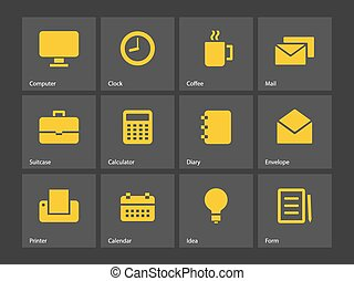 ビジネス, icons.