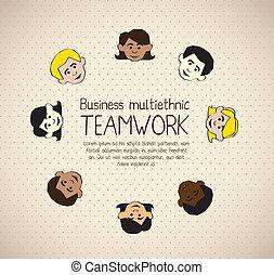 ビジネス, multiethnic
