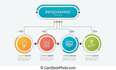 ビジネス, options., infographic, 4, テンプレート, プレゼンテーション
