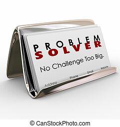 ビジネス, solver, キャリア, コンサルタント, 仕事, 問題, ホールダー, カード