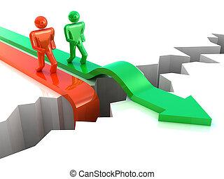 ビジネス, success., 競争, 概念