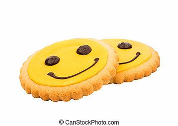 ビスケット, smiley, 黄色