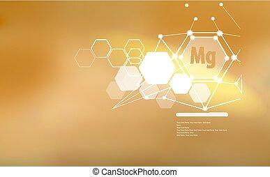 ビタミン, text., 印, マグネシウム, テンプレート, minerals.