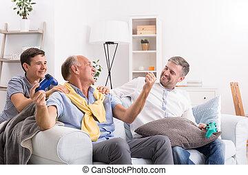 ビデオゲーム, 遊び, 祖父