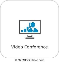 ビデオ会議, icon.