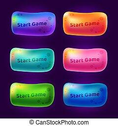 ビデオ, 始めなさい, 3, アーケードゲーム, games., ボタン, セット