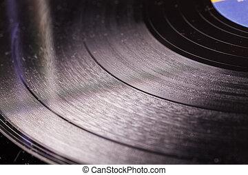 ビニールレコード, 中に, 終わり