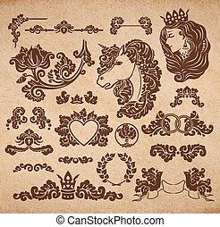 ビネット, ベクトル, 皇族, 結婚式