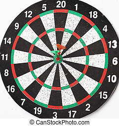 ビュー。, 板, さっと動きなさい, ターゲット, 側, 中心, 矢, ヒッティング