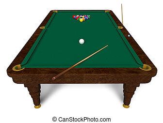 ビリヤードの テーブル
