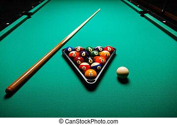 ビリヤードボール, テーブル。, プール
