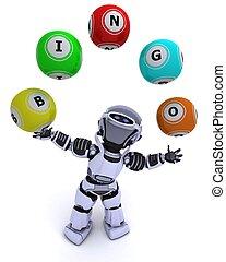 ビンゴ, ボール, ロボット