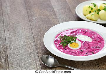 ビート, リトアニア人, スープ, 寒い