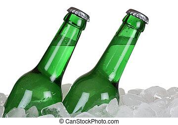 ビール瓶, 氷