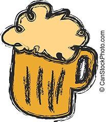ビール, いたずら書き, 大袈裟な表情をしなさい, ベクトル
