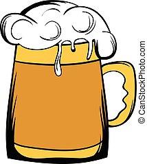 ビール, アイコン, 大袈裟な表情をしなさい, 漫画