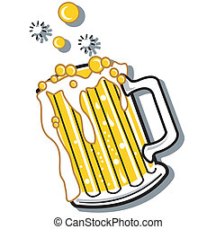 ビール, グラフィックアート, クリップ, 印