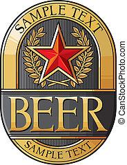 ビール, デザイン, ラベル