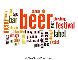 ビール, 単語, 雲