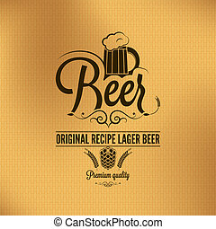 ビール, 型, 背景, ラガービール