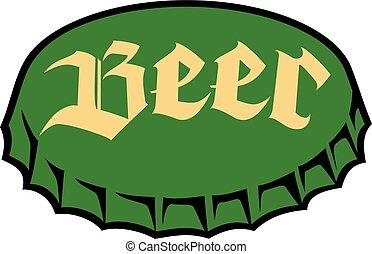 ビール, 帽子, びん