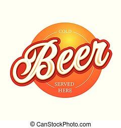 ビール, 技能, レタリング, 印, ラベル