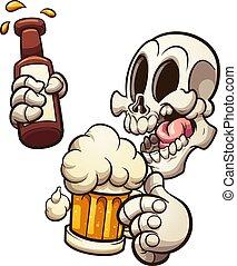ビール, 持つこと, 頭骨