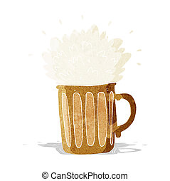ビール, 漫画, 泡だらけ