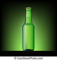 ビール, 緑, びん