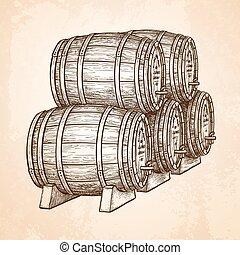ビール, barrels., ∥あるいは∥, ワイン