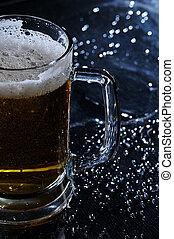 ビール, blured, 背景