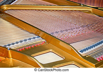 ピアノ, ひも