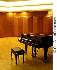 ピアノ, コンサートホール