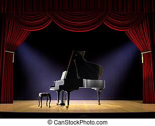 ピアノ, コンサート