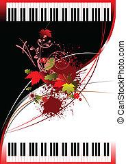 ピアノ, パンフレット, カバー, 2