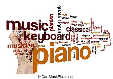 ピアノ, 概念, 単語, 雲