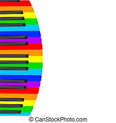 ピアノ, 背景, 音楽, ベクトル, keys., illustration.