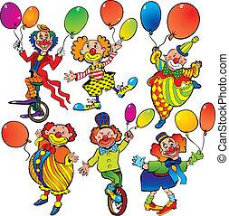 ピエロ, ∥で∥, balloons.