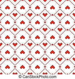 ピクセル, 心, seamless, パターン