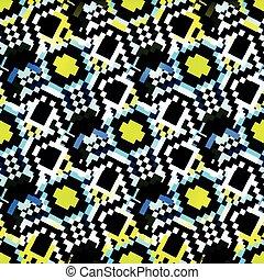 ピクセル, 抽象的, 幾何学的, カラフルである, 背景